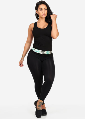 Black Seamless Racerback Top