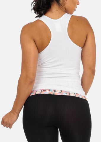 Image of White Seamless Racerback Top