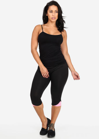 Image of Black Seamless Top