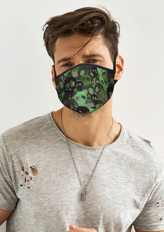 Green Skull Face Cover
