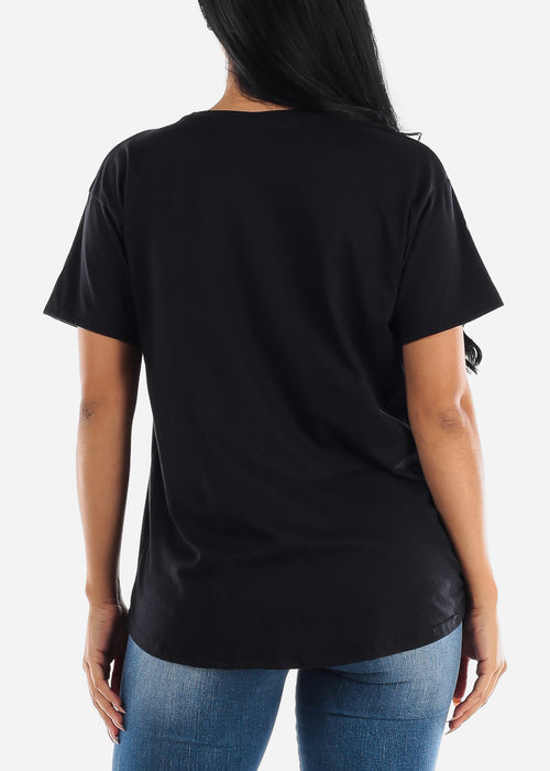 "Black Graphic Tee ""Wicked"""