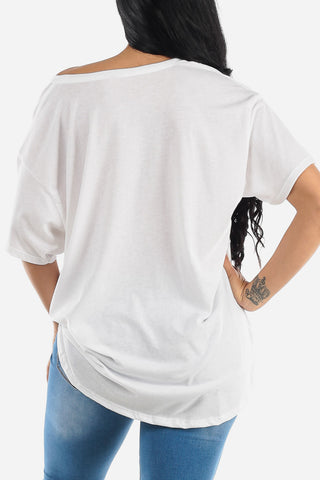 "Image of White Graphic Tee ""Love"""