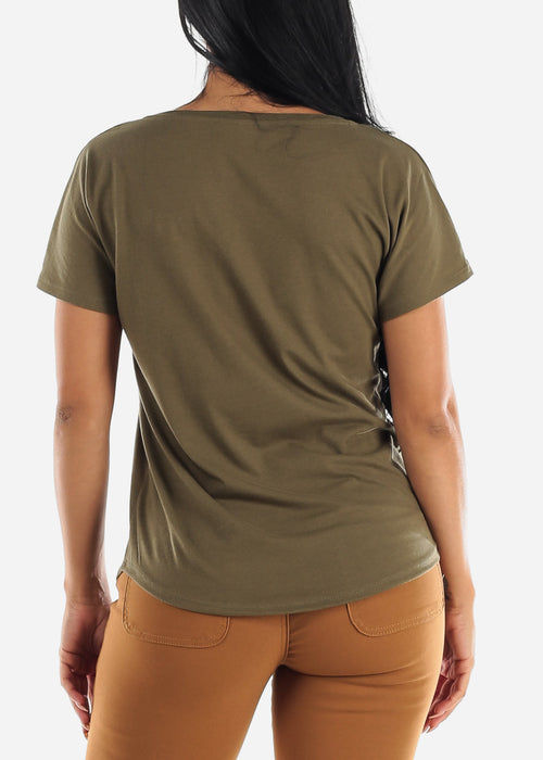 "Olive Graphic Tee ""XOXO"""