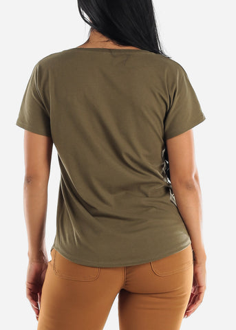 "Image of Olive Graphic Tee ""XOXO"""
