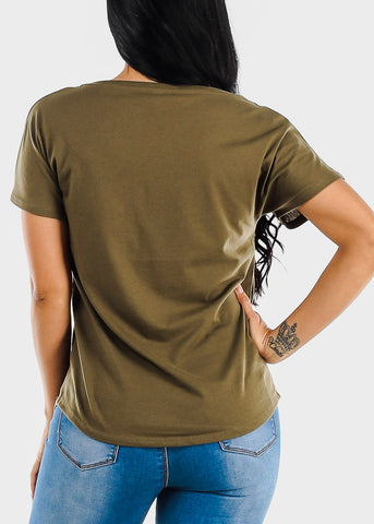"Image of Olive Graphic Tee ""Be Different Babe"""