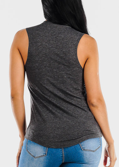 Charcoal Graphic Tank Top