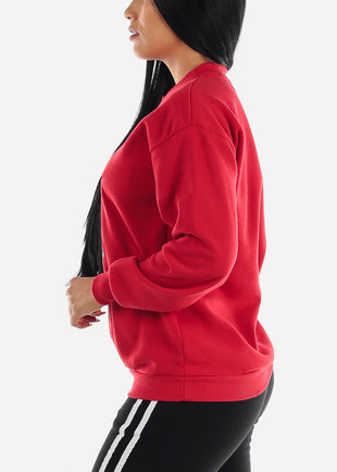 Red Graphic Sweatshirt