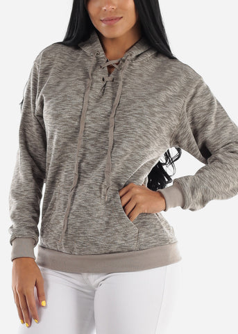 "Heather Grey Graphic Sweater ""Make Today Better"""