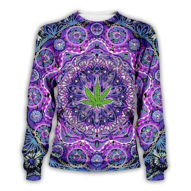 Cosmic Threads Shirts Autumn Weed Psychedelic Mandala Full Sleeve Shirt