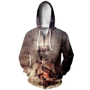 Cosmic Threads Hoodies Forever Can Be By Cameron Gray - Zipper Hoodie