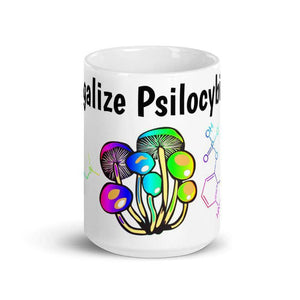 Cosmic Threads Legalize Psilocybin Coffee Mug Psychedelic Accessories