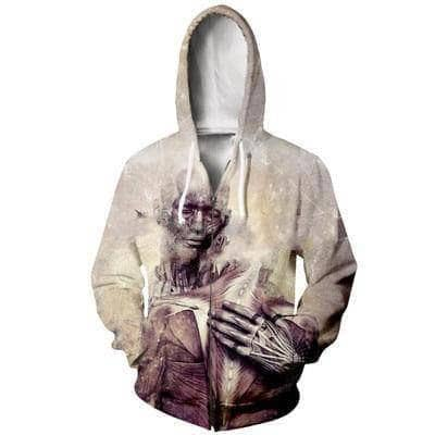 Cosmic Threads Hoodies Only If The Sky Would Disappear By Cameron Gray - Zipper Hoodie