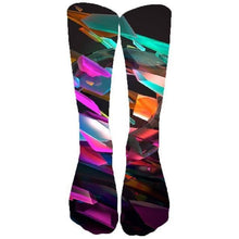 Load image into Gallery viewer, Cosmic Threads Socks Psychedelic Geometric Socks