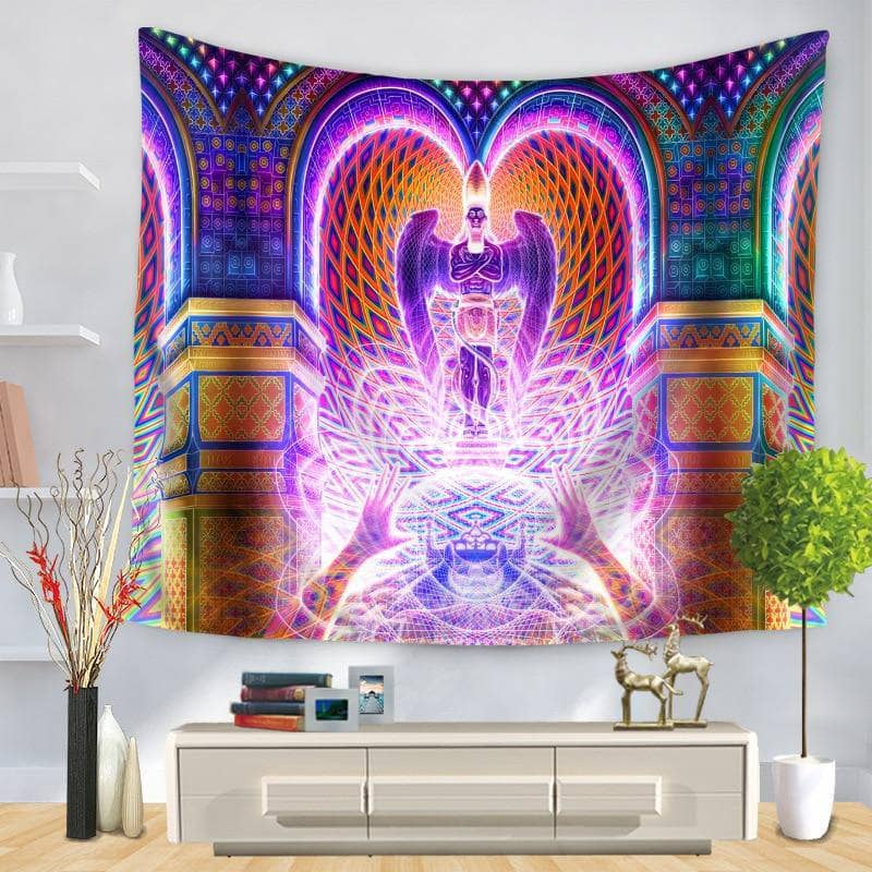 Cosmic Threads Tapestry Salvia Divinorum Psychedelic Tapestry By SalviaDroid