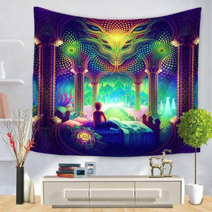 Cosmic Threads Tapestry Salvia Dreams Psychedelic Tapestry By SalviaDroid