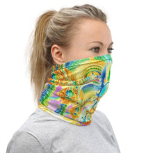 Load image into Gallery viewer, Cosmic Threads Salvia Orbs Neck Gaiter Mask Head Covering
