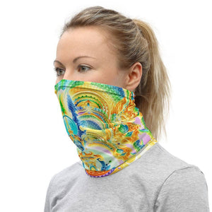 Cosmic Threads Salvia Orbs Neck Gaiter Mask Head Covering