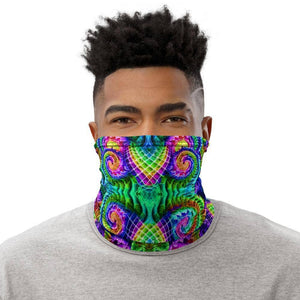 Cosmic Threads Salvia Trip Neck Gaiter Face Mask Head Covering