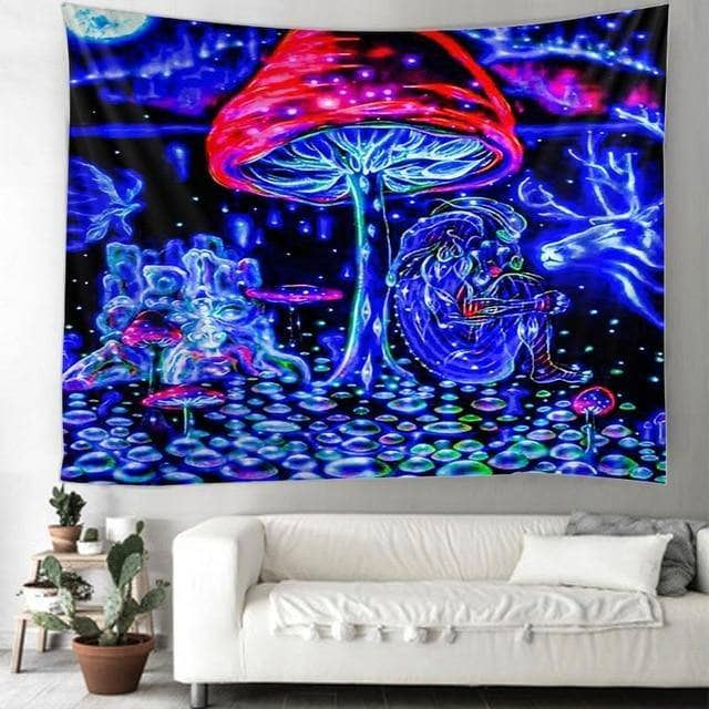 Cosmic Threads Tapestry Soul Trip Psilocybin Mushroom Tapestry