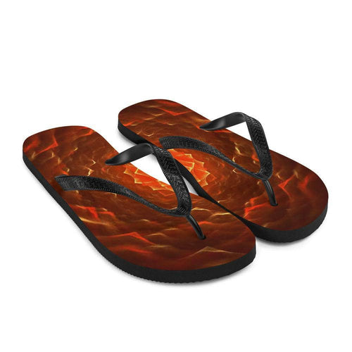 Cosmic Threads the Crimson Lotus Flip-Flops