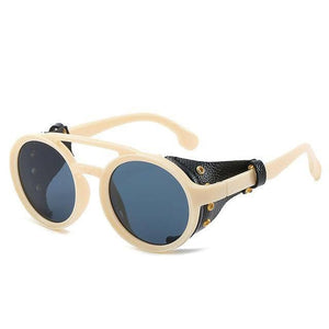 Cosmic Threads Sunglasses The Cyber Shaman Designer Sunglasses - Cream