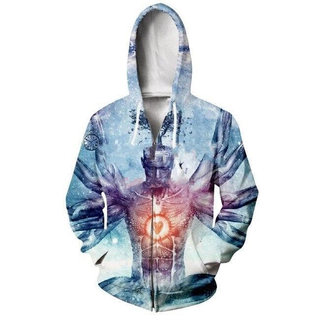 Cosmic Threads Hoodies The Neverending Dreamer By Cameron Gray
