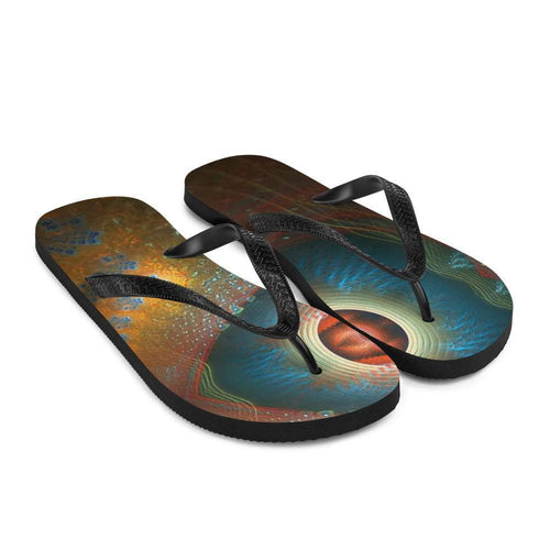 Cosmic Threads The Singularity Psychedelic Flip-Flops