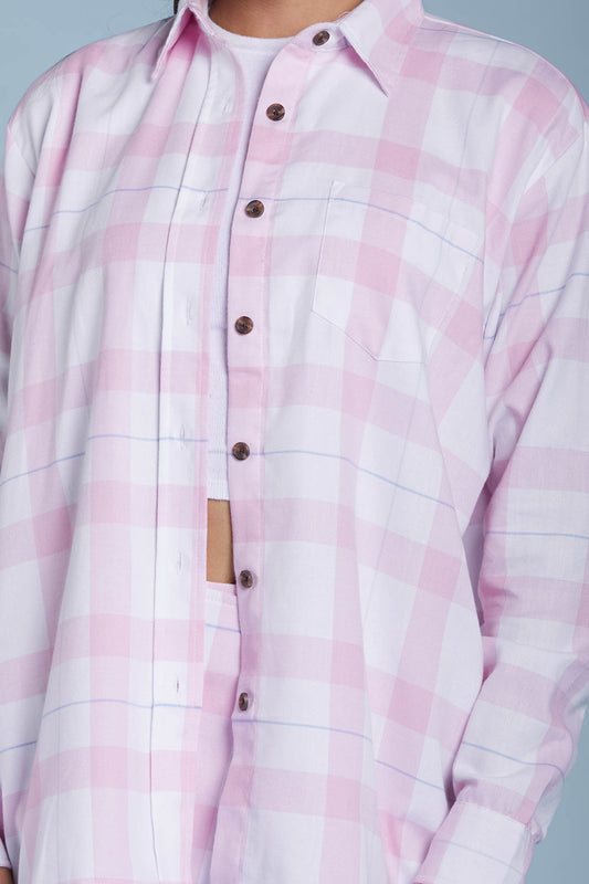 Unisex Dad's Pink Flannel