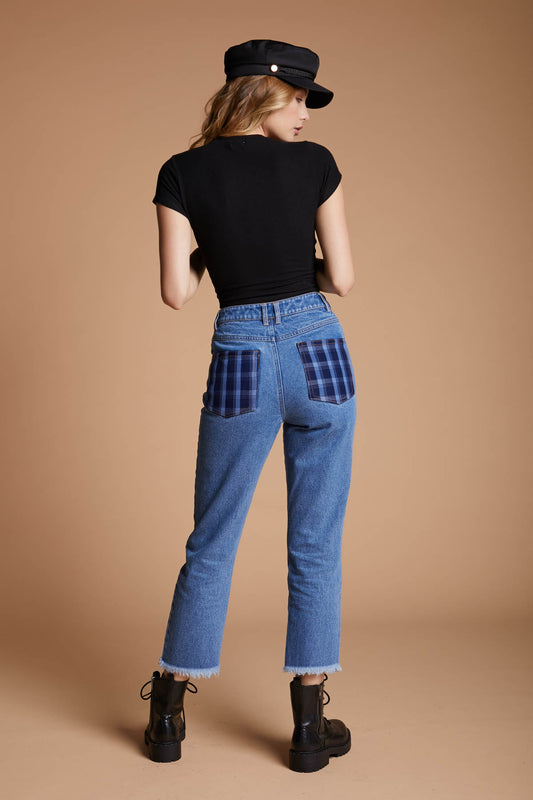 Plaid Pocket Denim