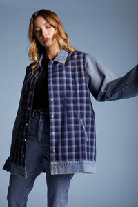 Plaid Oversized Long Coat