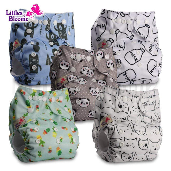 5pcs/set Pocket Nappy Diaper | Hipposshop