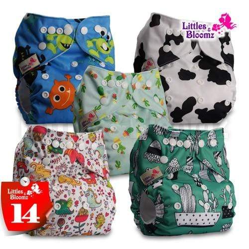 Pocket Nappy Diaper set pack of 5