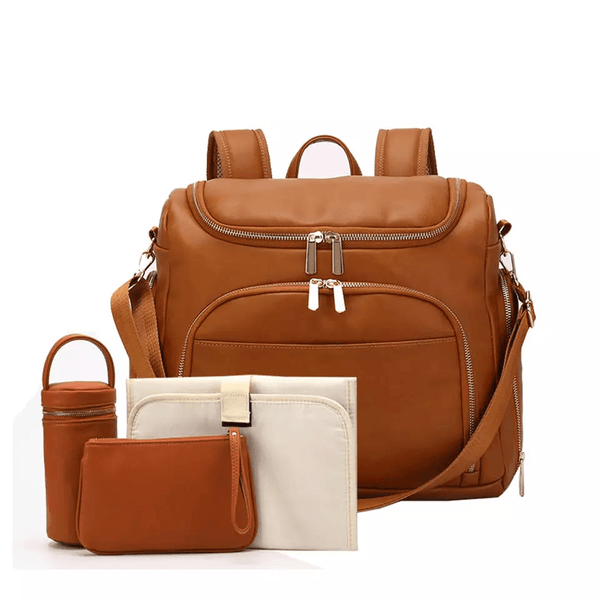 stylish leather diaper bags
