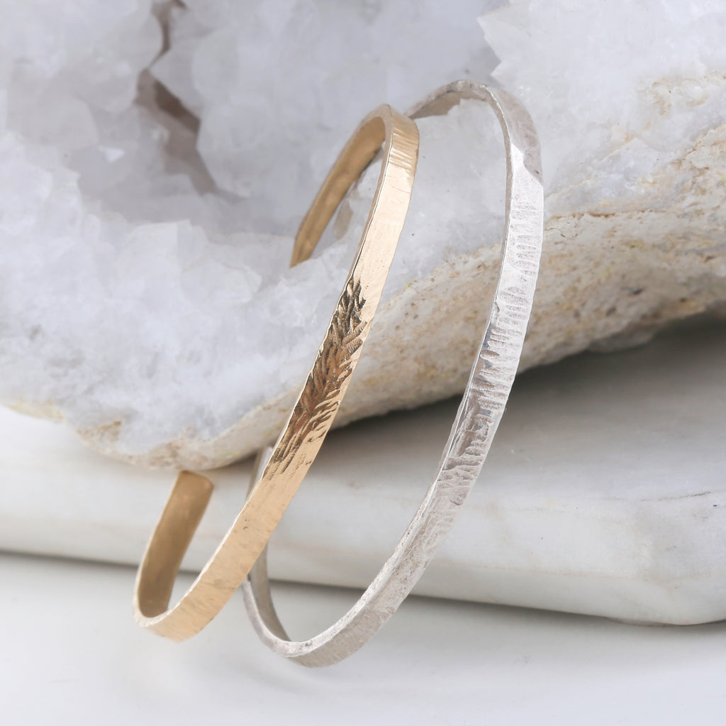 Leaf Blade Hammered Cuff