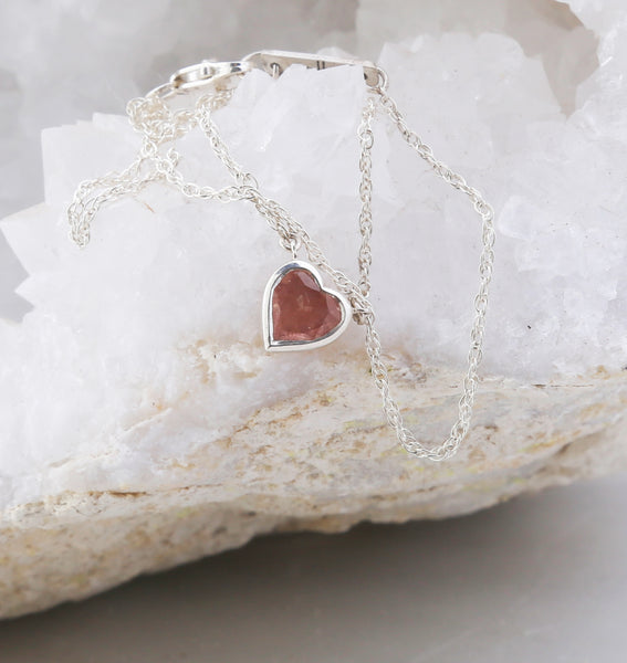Sunstone Heart Necklace
