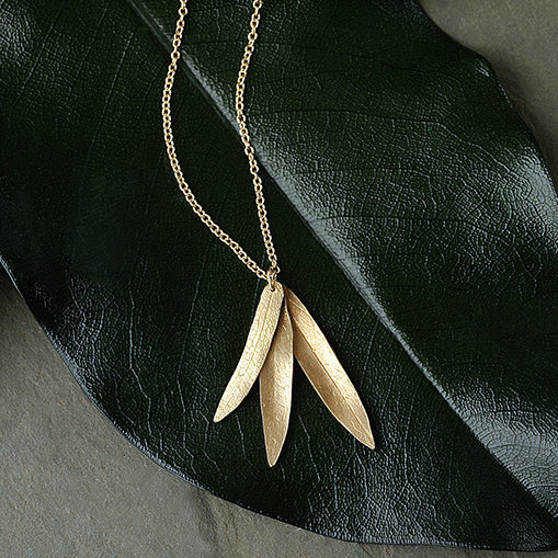 Three Leaf Necklace