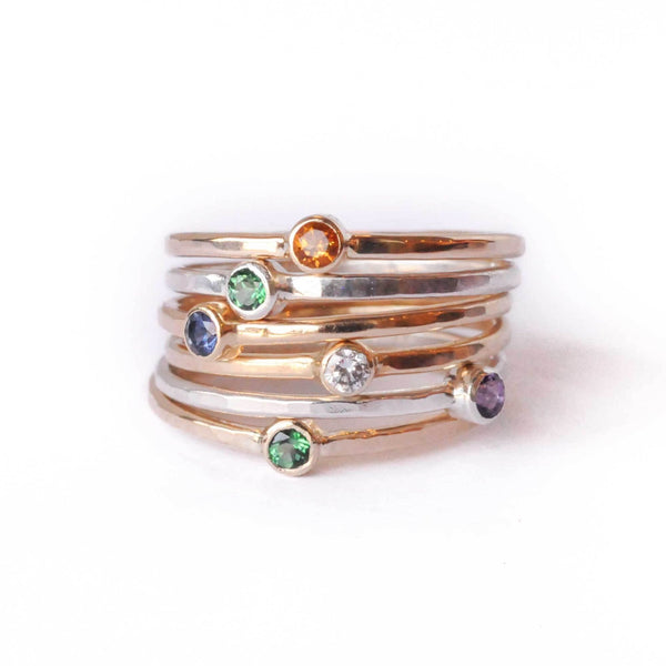 Shining Birthstone Ring