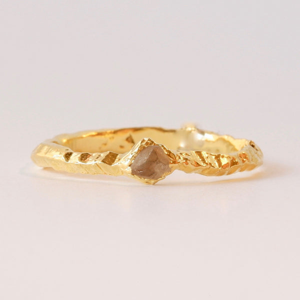 22k Gold Uncut Diamond Ring