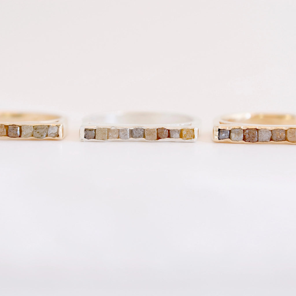 Raw Diamond Cube Ring