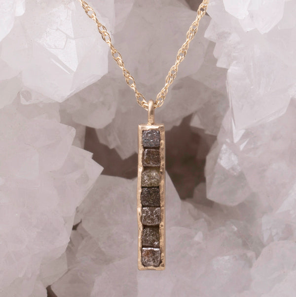 Diamond Cube Necklace