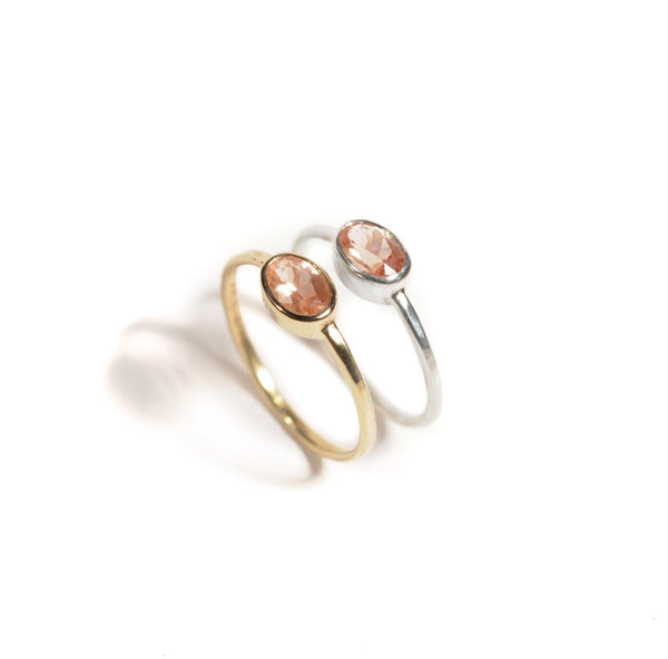 14k Sunstone Ring | 14k Yellow Gold or 14k Rose Gold |  Sunstone Ring