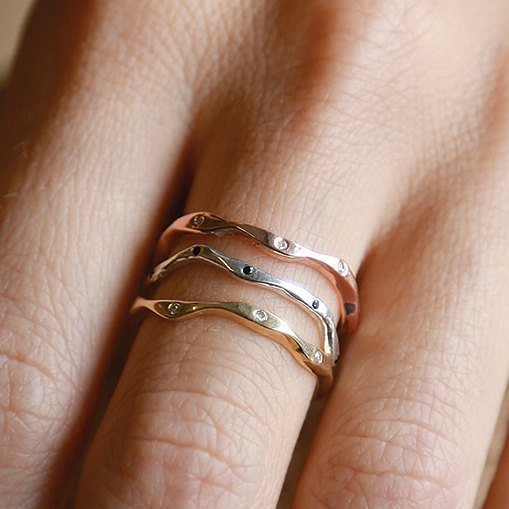Leader Trio Set | 3 Ring Set | 14k Yellow Gold | 14k Rose Gold | 14k White Gold