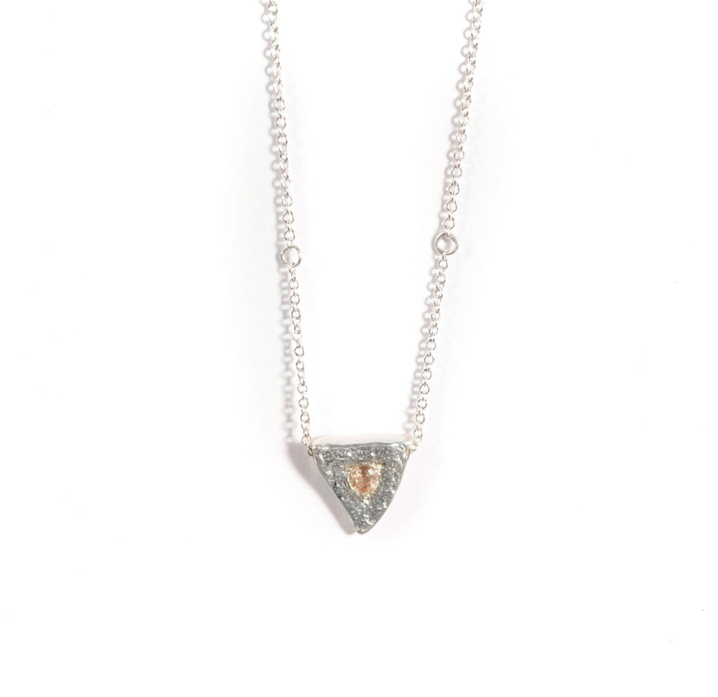 Heart of a Goddess Necklace | Silver and Sunstone Necklace