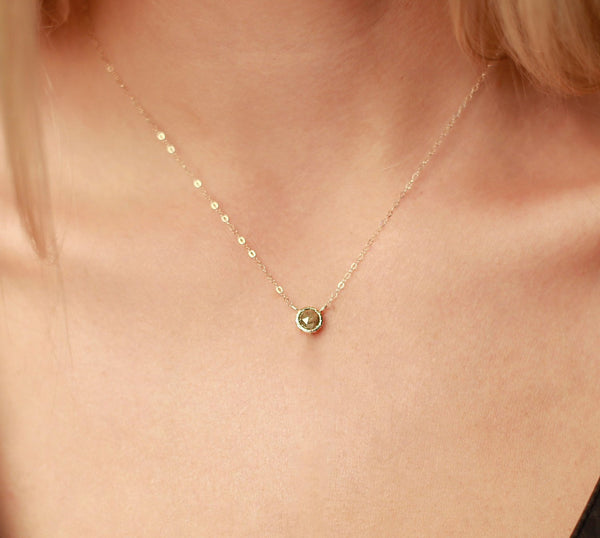 14k Diamond Choker Necklace | 14k yellow gold or 14k rose gold Diamond Necklace