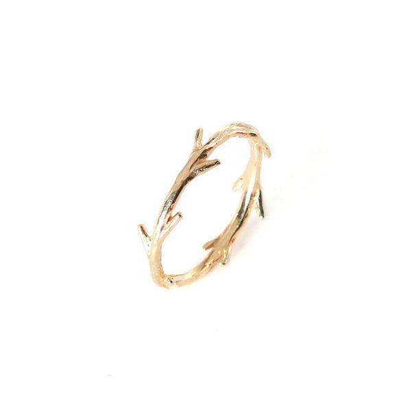14k Gold Twig Ring | Stacking Ring | Nature Inspired Ring