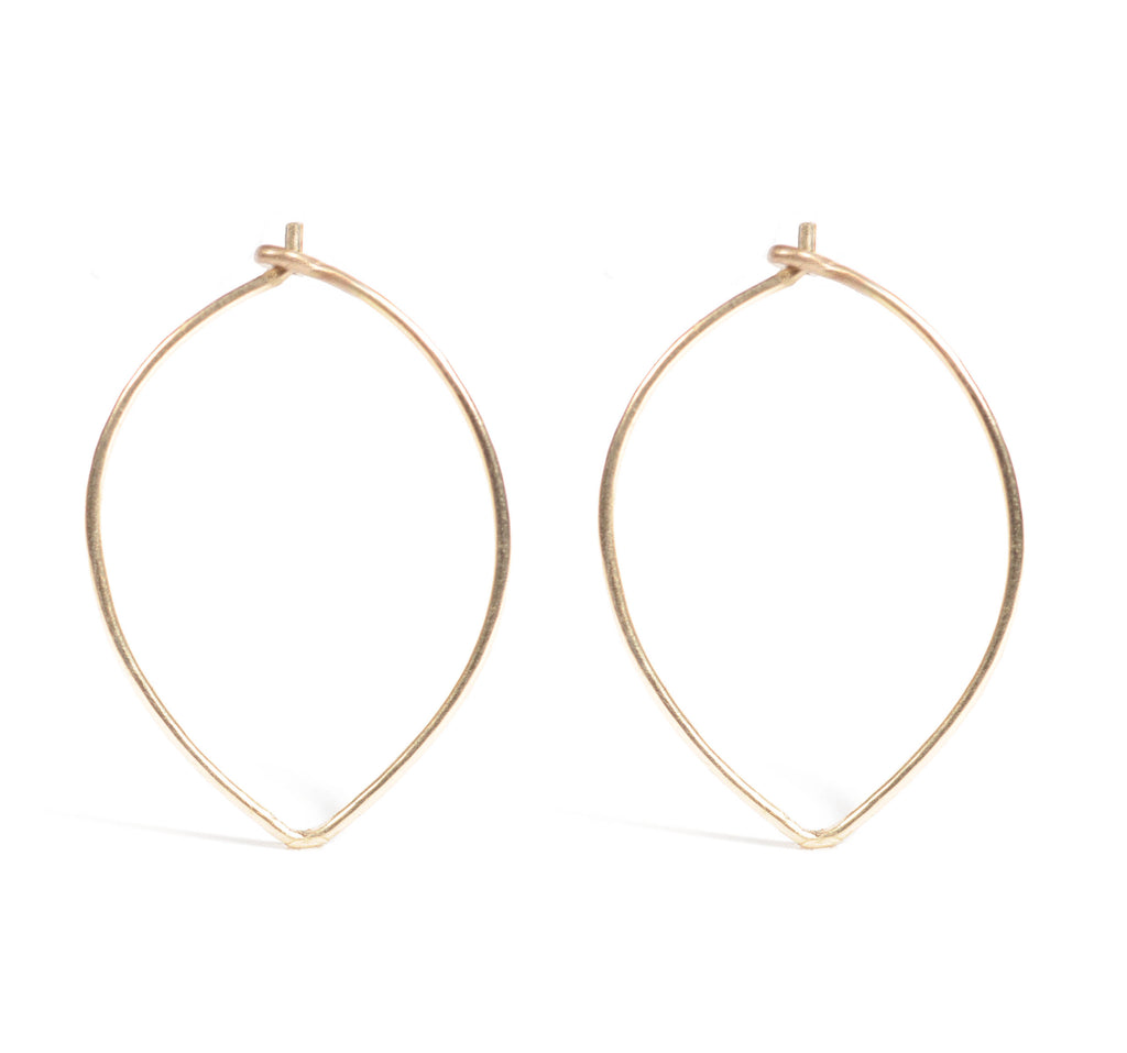 Angled Hoops | Silver or 14k Gold