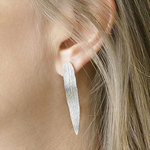 Large Leaf Earrings | Gold or Sterling Silver Earrings | Nature Inspired