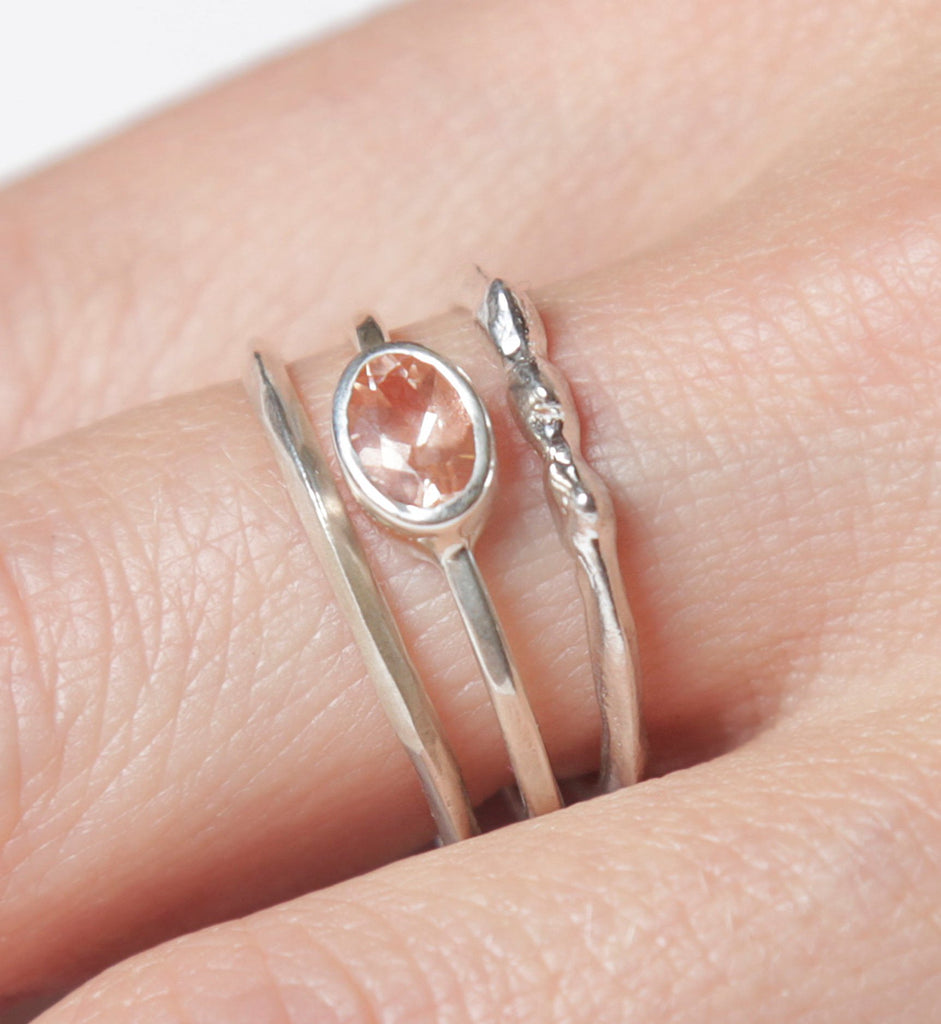 Sunstone Rising Tide Ring Set – Colby June Jewelry