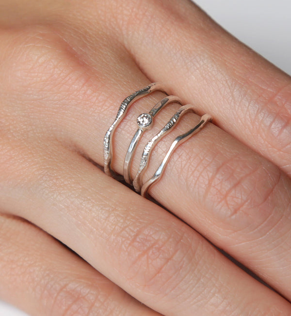 Diamond Warrior Ring Set  | Conflict Free Diamond |  Nature Inspired Rings
