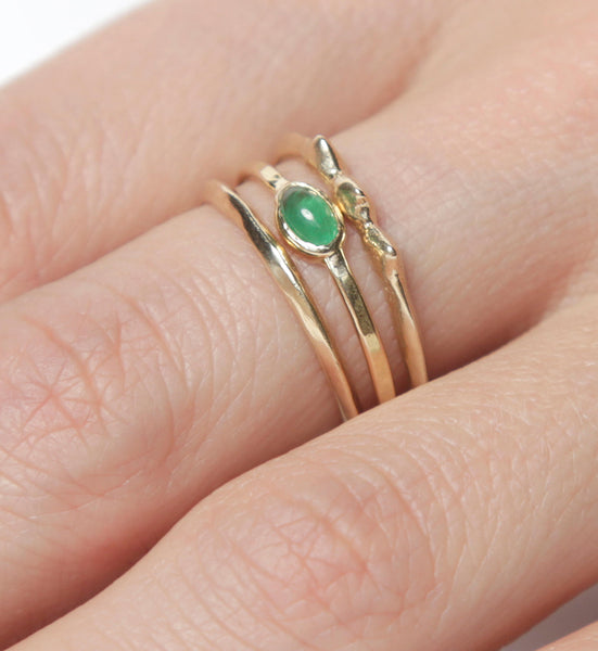 14k Emerald Ring |  Fair Trade Emerald